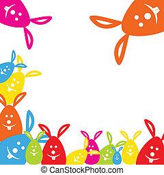 lapin pâques, coloré