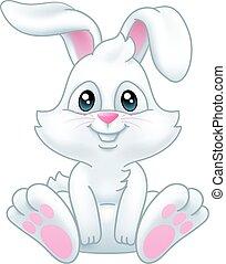 lapin pâques, lapin, dessin animé