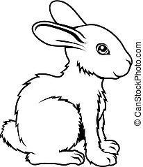 lapin, stylisé, illustration