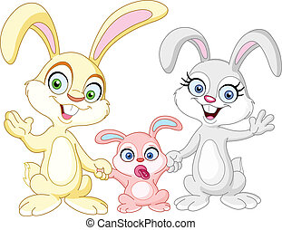 lapins, famille
