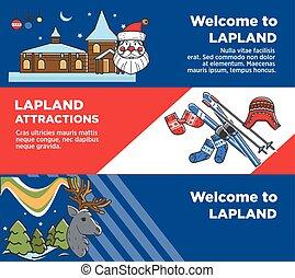 laponie, touriste, célèbre, attractions, voyage, accueil, ...