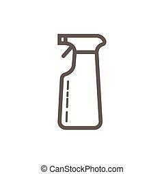 lapos rajzóra, illustration., egyszerű, permetezés, vektor, device., egyenes, style., ikon