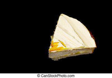 lappa av tårtan, svart fond