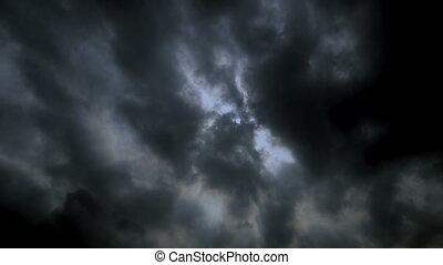 lapso, nuvens, tempestade, tempo