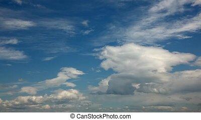 lapso, nuvens, tempo