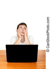 laptop , βαριεστημένα , έφηβος