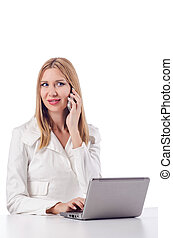 laptop , γυναίκα , άσπρο