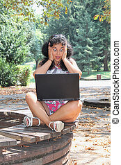 laptop , γυναίκα , νέος