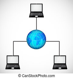 laptop , δίκτυο