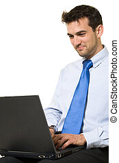 laptop , εργαζόμενος , άντραs