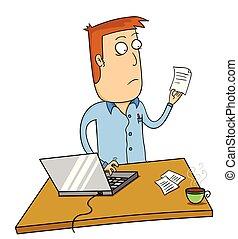 laptop , εργαζόμενος