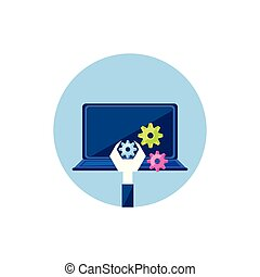laptop ηλεκτρονικός εγκέφαλος , ταχύτητες , βίαια στροφή