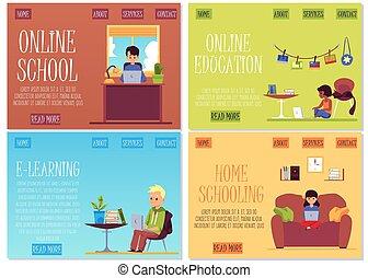 laptop , - , παιδιά , σημαία , μικρόκοσμος , θέτω , γελοιογραφία , φοιτητόκοσμος , μόρφωση , χρησιμοποιώνταs