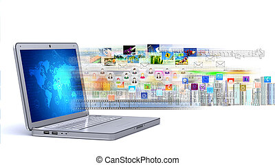 & , laptop , πολυμέσα , internet