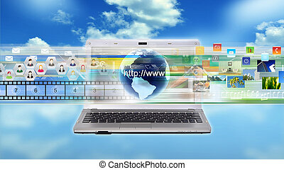 laptop , πολυμέσα , internet