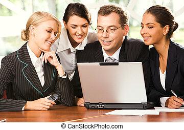 laptop , σύνολο , businesspeople , εργαζόμενος
