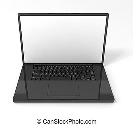 Laptop - 3D render of a black laptop computer