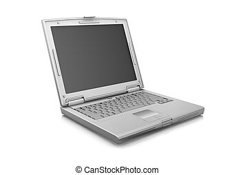 Laptop - 3D render of laptop isolated on white