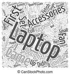 laptop accessories Word Cloud Concept