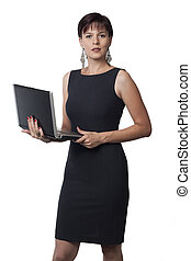 laptop, affari donna