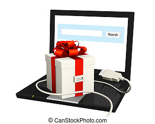 Laptop and gift