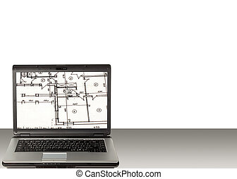 Laptop and home plan