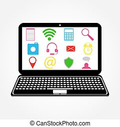 laptop and Icons