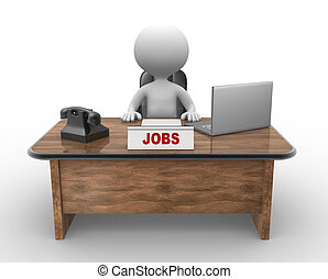 Laptop and phone. Jobs