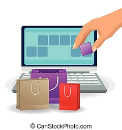 Laptop and shopping bag design