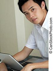 laptop, arbete