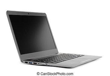 laptop, branca, isolado