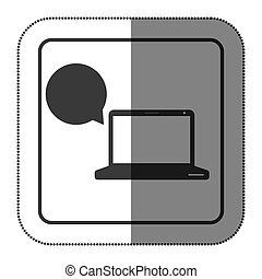 laptop bubble icon image