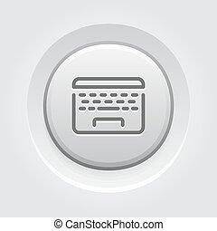 Laptop Button Icon.