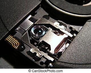laptop cdrom closeup