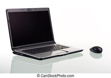 Laptop Computer - A modern laptop computer and wireless...
