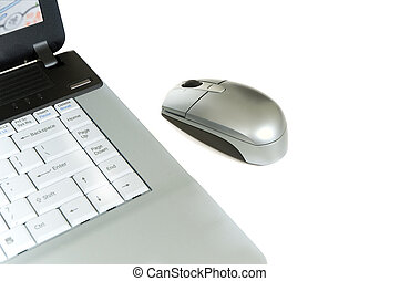 Laptop computer and mouse