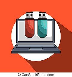laptop computer data icon