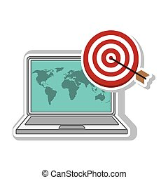 Darts target phone and world map illustration design over a eps laptop computer device laptop computer with world map wallpaper and target gumiabroncs Images