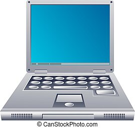 Laptop Computer - Graphic illustration of an open laptop...