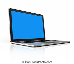laptop-computer, freigestellt, weißes