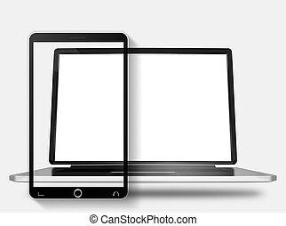 laptop-computer, handy