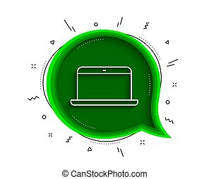 Laptop computer icon. Notebook sign. Vector