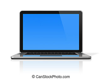Laptop computer isolated on white