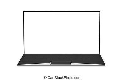 laptop-computer, notizbuch, 3d-illustration