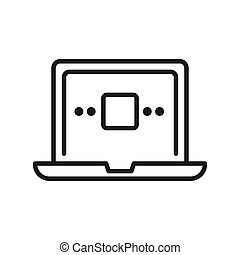 laptop computer vector illustration design