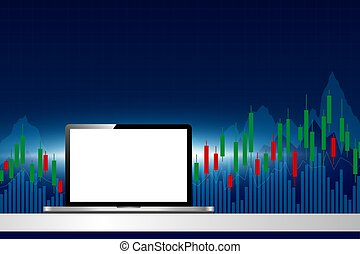 Stock market trader looking at multiple computer screens