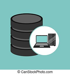 laptop data server center icon