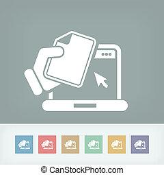 Laptop document icon