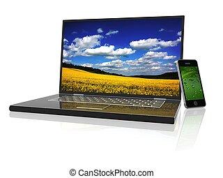 laptop - 3d new technology illustration