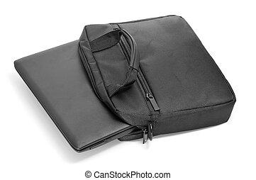laptop, em, seu, saco